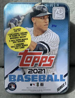 2021 Topps Series 1 MLB Baseball Collectible Tin Factory Sealed NEW in HAND