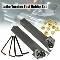 16pcs Lathe Turning Tool Holder Right Left WNMG0804 Insert Blades Lathe Tool