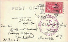 1913 Cordova, Alaska Territory Cancel on Real Photo Postcard of Cordova w 1¢ #Q1