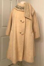 New listing Vintage Lilli Ann mohair swing coat, rhinestone collar, 3/4 sleeve, Tisse a Pari
