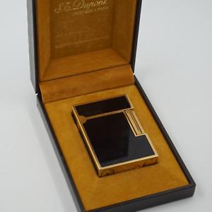 S. T. Dupont  Feuerzeug Gold Linie 2 Ligne Luxusfeuerzeug Ligther Chinalack Box