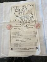 Vintage Stamped for Embroidery TABLE RUNNER Scarf AMERICAN THREAD CO No 576a