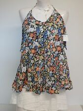 Women Aeropostale Top MultiColor Floral Blouse X Small
