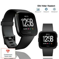 Fitbit Versa Health Edition Fitness Tracker Activity Black Small Band Smartwatch