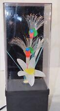 Vintage Fiber Optic Flower Lamp Color Changing