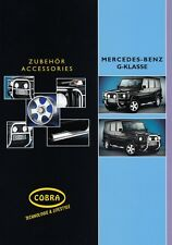 MERCEDES G-KLASSE COBRA Tuning Zubehör Design Prospekt Brochure 2001 34