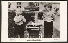 Their Royal Highnesses Prince Charles & Princess Anne -Vintage Photo Postcard