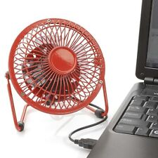 "Tech Tools 4"" USB Powered Retro Desktop Fan (Red) RF-0410R"