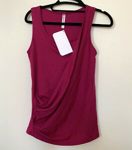 NWT Fabletics Top XS Pink Bishop Tank Oh My Goddess Athletic Yoga Shirt MSRP 40$