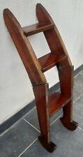 antique red wood yatch's ladder.échelle de bateau art déco en bois exotique