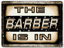 BARBER SHOP METAL sign LOCAL hair salon funny VINTAGE style GIFT wall decor 465
