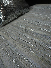 MAT RUG  WHITE SILVER GLITTER LEATHER 60 CM X 90 CM & FREE SEQUIN CUSHION NEW