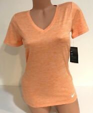 NIKE WOMEN'S SIZE MEDIUM DRY DRI-FIT V-NECK TRAINING T-SHIRT 806383 856 NWT