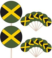 Jamaica Flags Party Food Cup Cakes Picks Sticks Decorations Toppers