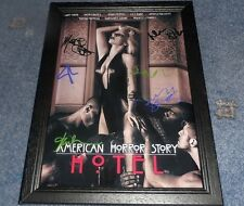 """AMERICAN HORROR STORY : HOTEL PP SIGNED FRAMED A4 12""""X8"""" PHOTO POSTER LADY GAGA"""