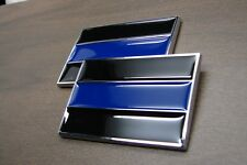 (2) THIN BLUE LINE POLICE 3D EMBLEM STICKER BADGE LOGO DECAL FOR CARS