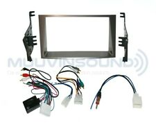 Radio Stereo Dash Kit Combo DD SILVER + SWC AMP Wire Harness + Antenna SU22