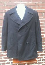 Authentic Mens Us Navy Vintage Men's Peacoat Wool Coat Size 38 R