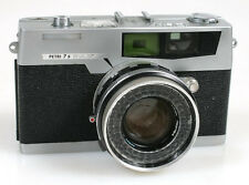 PETRI 7S 35MM RANGFINDER CAMERA W/ PETRI 45MM F2.8 LENS ((FOR PARTS))