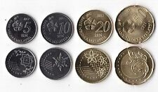 MALAYSIA - NEW ISSUE 4 DIF UNC COINS SET: 5 - 50 SEN 2012 YEAR