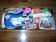 OT86NIB Fisher Price I Can Play Guitar +video game Blue