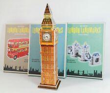 LONDON Set mit drei 3D-Bausätzen: Tower Bridge, Big Ben, roter Doppeldeckerbus