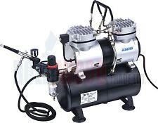 MINI TWIN Aerografo Compressore con serbatoio-AS196 KIT