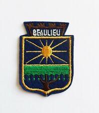 BLASON Brodé Ecusson ville Beaulieu - hauteur 7 cm