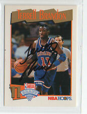 Terrell Brandon 1991 1992 Hoops signed autographed card Cleveland Cavs