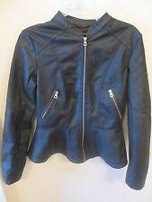 New Look Jacket - Polyurethane - Looks Like Leather - Size Medium