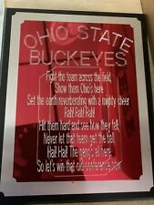 Ohio State Buckeyes Fight Song Plaque