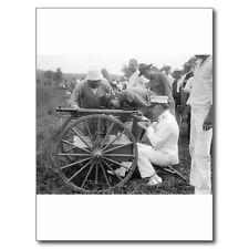 """*Postcard-""""Man @ Target Practice...Machine Gun"""" -1917- (B340)"""