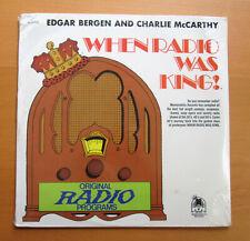 When Radio Was King! Edgar Bergen & Charlie McCarthy SEALED VINYL LP