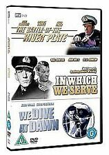 The Battle Of The River Plate/In Which We Serve/We Dive At Dawn Dvd New Sealed