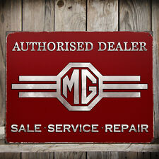 MG Authorised Dealer Metal Wall Sign 30x41cm Official Licensed Motors Gift 50124
