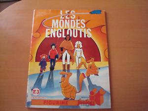 LES MONDES ENGLOUTIS ALBUM PANINI 80's ( NO POPY) SPARTAKUS AND THE SUN