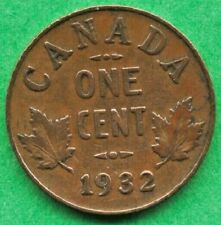 Canada 1932 1 one Cent penny King George V  Circulated