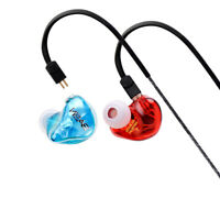 BASN Headphones 2 Dynamic Driver With 0.78MM 2PIN Detachable Ear-Hook Earphones