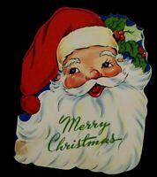 Vintage Christmas Greeting Card 1950's Santa Claus Xmas Made in USA Card