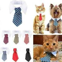 Cute Soft Small Pet Cat Dog Formal Bow Tie Collar Tuxedo Neck Tie Adjustable NEW