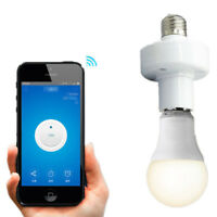 Wi-Fi Smart Lamp Base E27 Holder Wireless Bulb Socket Screw Light Holder Cap