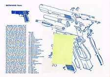 BROWNING 9mm PISTOL, WINCHESTER 70  EXPLODED VIEW PARTS LIST DISASSEMBLY  AD