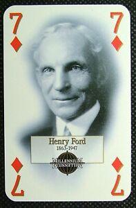 1 x playing card single swap Henry Ford Motor Company USA 7 of Diamonds MM2