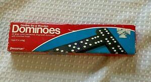 Pressman #1520 Double Six Bois Dominos 1983 Vintage