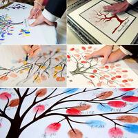 Canvas Wedding Fingerprint Thumbprint Signature Guest Book Decor Multi Style