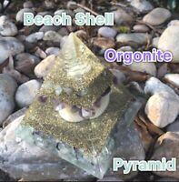 Beach Shell Orgonite Pyramid ( Emf Protection )