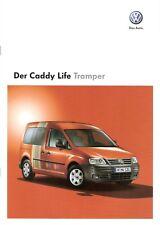 Prospekt / Brochure VW Caddy Life Tramper 11/2008