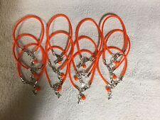 "One Dozen Bright Orange Leukemia Cancer ""Hope"" w/ Glass Bead Bracelets"