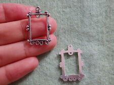 15 photo frame charms Tibetan silver antique beads pendant wholesale UK SF38