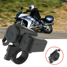 12V Motorrad Zigarettenanzünder USB Buchse wasserdicht Steckdose Adapter Lenker